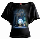 LISA PARKER -THE WITCHES APPRENTICE BOAT NECK BAT SLEEVED TOP